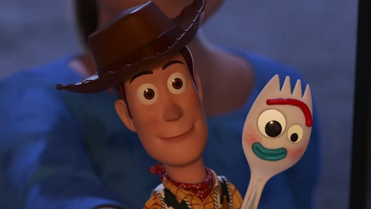 Woody y Forky en Toy Story 4